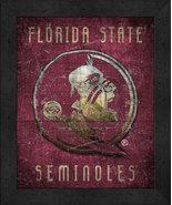 "Florida State Seminoles ""Retro College Logo Map"" 13x16 Framed Print  - $39.95"