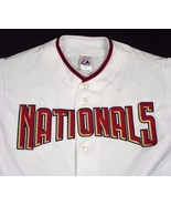 Washington Nationals Majestic Jersey White 6400 Baseball Men Sz XL EUC - $49.99