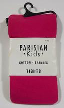 PARISIAN KIDS ZINNIA PINK TIGHTS NIP GIRLS SZ 4 5 6 COTTON SPANDEX 4-6 B... - $5.04