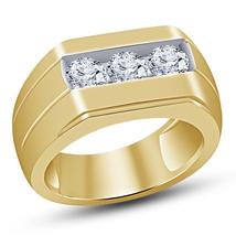 Round Cut VVS1 Diamond 18k Yellow Gold Plated Engagement Wedding Pinky B... - $94.99