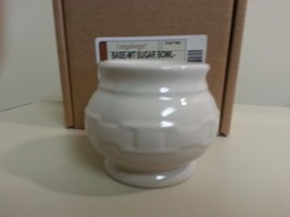 Longaberger Sugar Bowl Base Only  Ivory New In Box Vitrified Pottery - $15.79