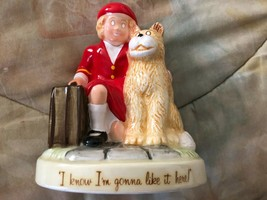 """APPLAUSE ANNIE FIGURINE with Dog """"I KNOW I'M GONNA LIKE IT HERE""""~ 1982~8922 - $19.79"""