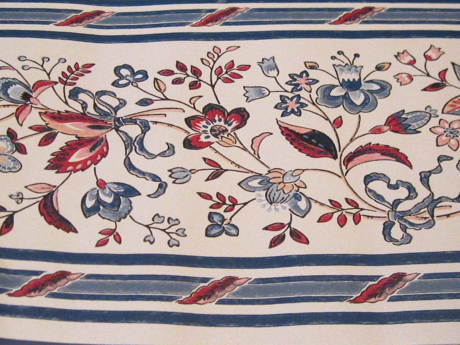 Wallpaper Border Blue Pink Red Flower Floral And 50 Similar Items