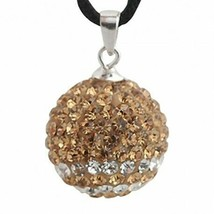 Pendant sterling silver with swarovski crystals zd1108 new new - $8.30