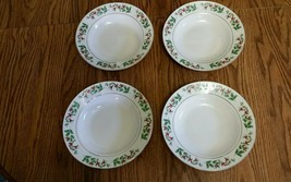 4 Gibson Christmas Charm Rimmed Soup Bowls - $11.64