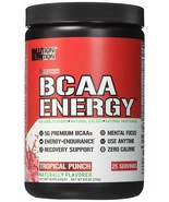 Evlution Nutrition BCAA Energy Amino Acid Supplement 25 Servings Tropica... - $19.78
