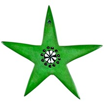 Tabaka Chigware Hand Carved Kisii Soapstone Green Star Stone Ornament image 2