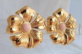 """1988 VTG Avon Sweet Magnolia Blossoms Clip On Earrings 1.25"""" Gold Plate ... - $13.49"""