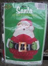 Beistle Honeycomb Christmas Santa Decoration 1983 plus Paper Tablecloth - €11,13 EUR