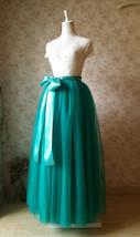 Womens Ruffle Maxi Tulle Skirt Floor Length Wedding Maxi Tulle Skirt GREEN Plus  image 4