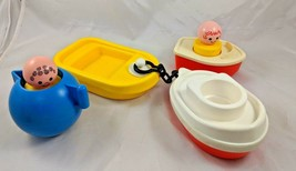 Fisher Price Bigger Little People Boat Tug Raft Teapot Lot - $22.69