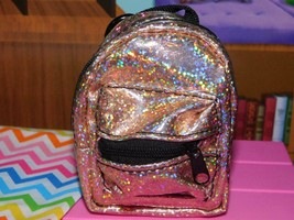 """18"""" Doll School Supplies Backpack bookbag Rose Gold American Girl Our Generation - $14.84"""