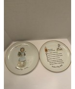 Set of 2 HOLLY HOBBIE Vintage Commemorative Edition Plates Mother's Day ... - $20.00
