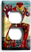 Ironman Super Hero Duplex Outlet Wall Plate Cover Boys Bedroom Iron Man Tv Room - $8.09