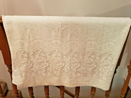 """Vintage Set of Two (2) Sears Ivory Lace 57 1/2"""" x 83"""" Curtain Panels - $39.55"""