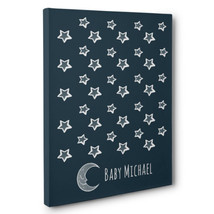 Moon and Stars Baby Shower Guestbook Alternative Art - £10.50 GBP+