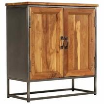 vidaXL Sideboard Steel Recycled Teak Wood Rustic Storage Cabinet Side Table - $192.99