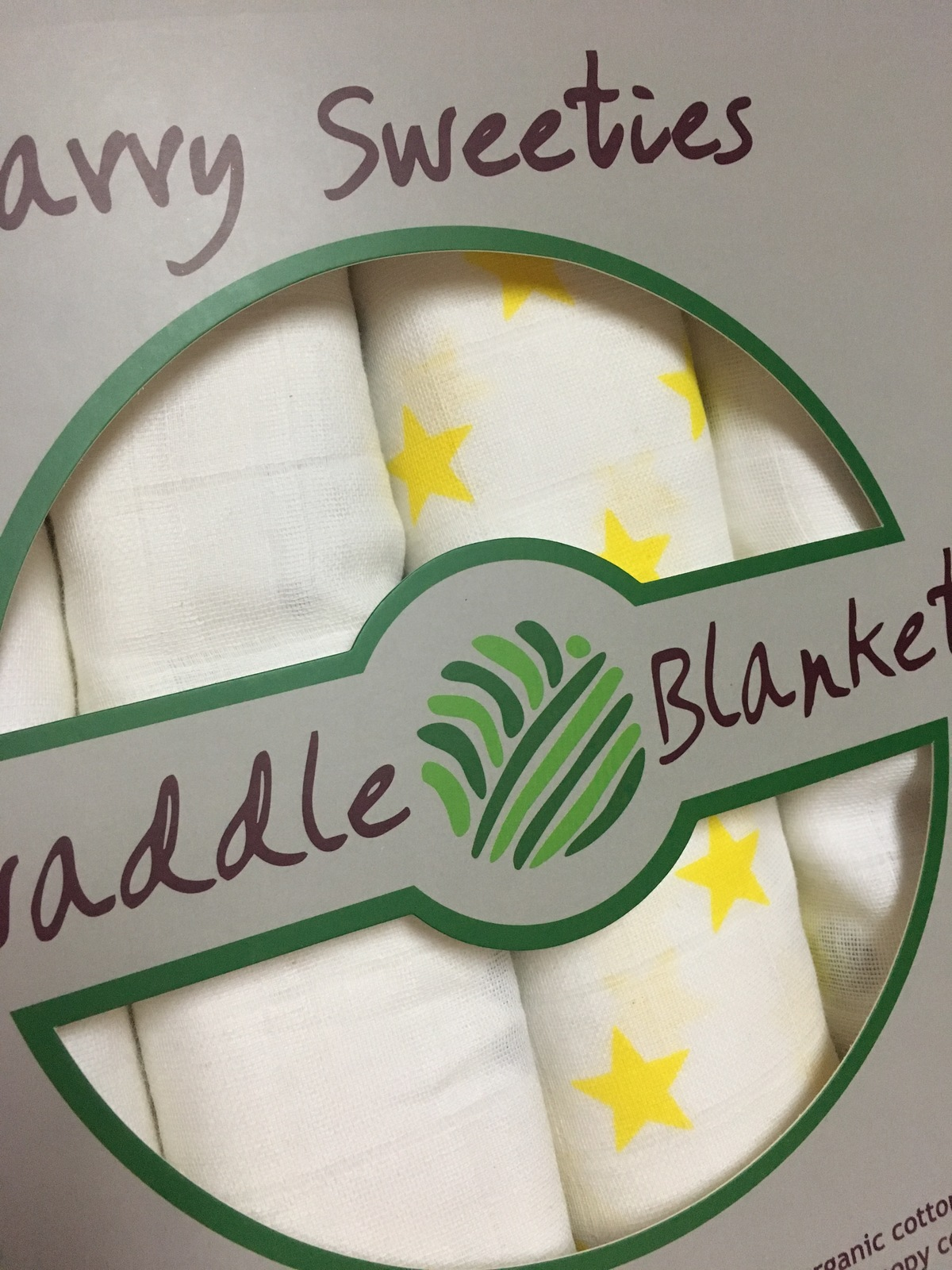 Swaddle Blankets Set of 3 Blankets One Car Seat Canopy 100% Organic Cotton