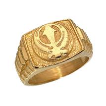 Heavy 10K Yellow Gold Sikh Khanda ring Jewelry Any size - $643.49+