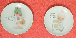 """NICE! (2) Precious Moments Plates """"Mom's A Sweet Cookie"""" """"Hang in There ... - $11.00"""