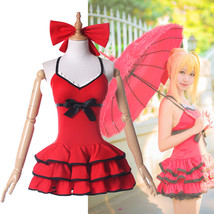 FGO Fate Grand Order Nero Cosplay Costume Red Dress Summer Swimsuit - $36.99