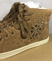 UGG Australia GRADIE DECO STUDS LEATHER Chestnut HIGH TOP SNEAKERS 1013911 image 9