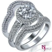 2.53 Carat (0.73)F/G-VS2 Round Diamond Engagement Ring Wedding Band Set ... - £4,024.35 GBP