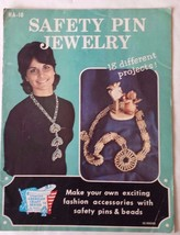 Safety Pin Jewelry Craft Book Hazel Pearson 1972 Patterns and Instructions - $12.86