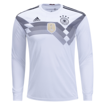Adidas Germany Natl Soccer Team Long Sleeve 2018 Home Jersey Size XL - $69.29