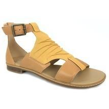 Timberland Women's Cherrybrook Yellow Leather Sandals A25D2 - £43.36 GBP