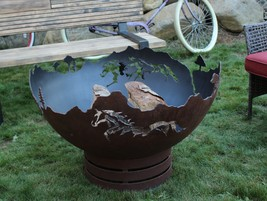 Cedar Creek Sculptures - Mustang Freedom Fire Pit - Rustic Elegance - $1,135.00+