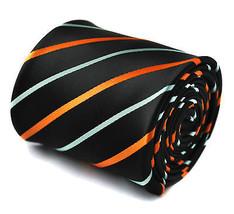 Navy con Arancione & azzurro cravatta nuziale da uomo da Frederick Thomas ft1521