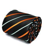 Navy con Arancione & azzurro cravatta nuziale da uomo da Frederick Thoma... - $24.58