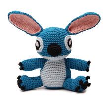 Blue Stitch Handmade Amigurumi Stuffed Toy Knit Crochet Doll VAC - $24.75