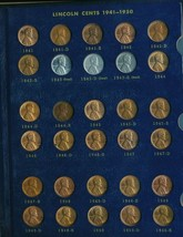 1941-1974 UNCIRCULATED LINCOLN CENT COLLECTION-2 ALBUMS-MOST ARE RED! 86... - $74.95