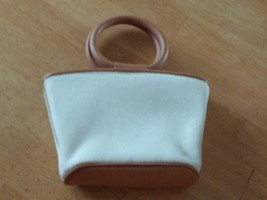 Nine West Small Ivory Purse W/2 Circular HANDLES-USED ONCE-VERY Nice - $8.99