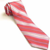 Robert Talbott Carmel Tie | Red Striped Silk Necktie - $86.63