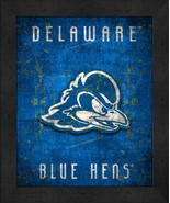 "Delaware Blue Hens ""Retro College Logo Map"" 13x16 Framed Print  - $39.95"