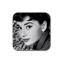 Memorabilia Audrey Hepburn Square Rubber Coaster Coasters - $1.49
