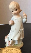 Lefton China Figurine Girl Dog Be My Pet TWP03467 Christopher Collection... - $14.80