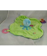 Mary Meyer Octopus Activity Lovey Teether Rattle Security Blanket Stuffe... - $10.95