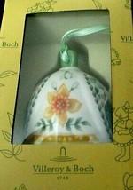 "Villeroy Boch Flower Flow Bells Bell Ornament  2.5"" New In Box - $18.80"