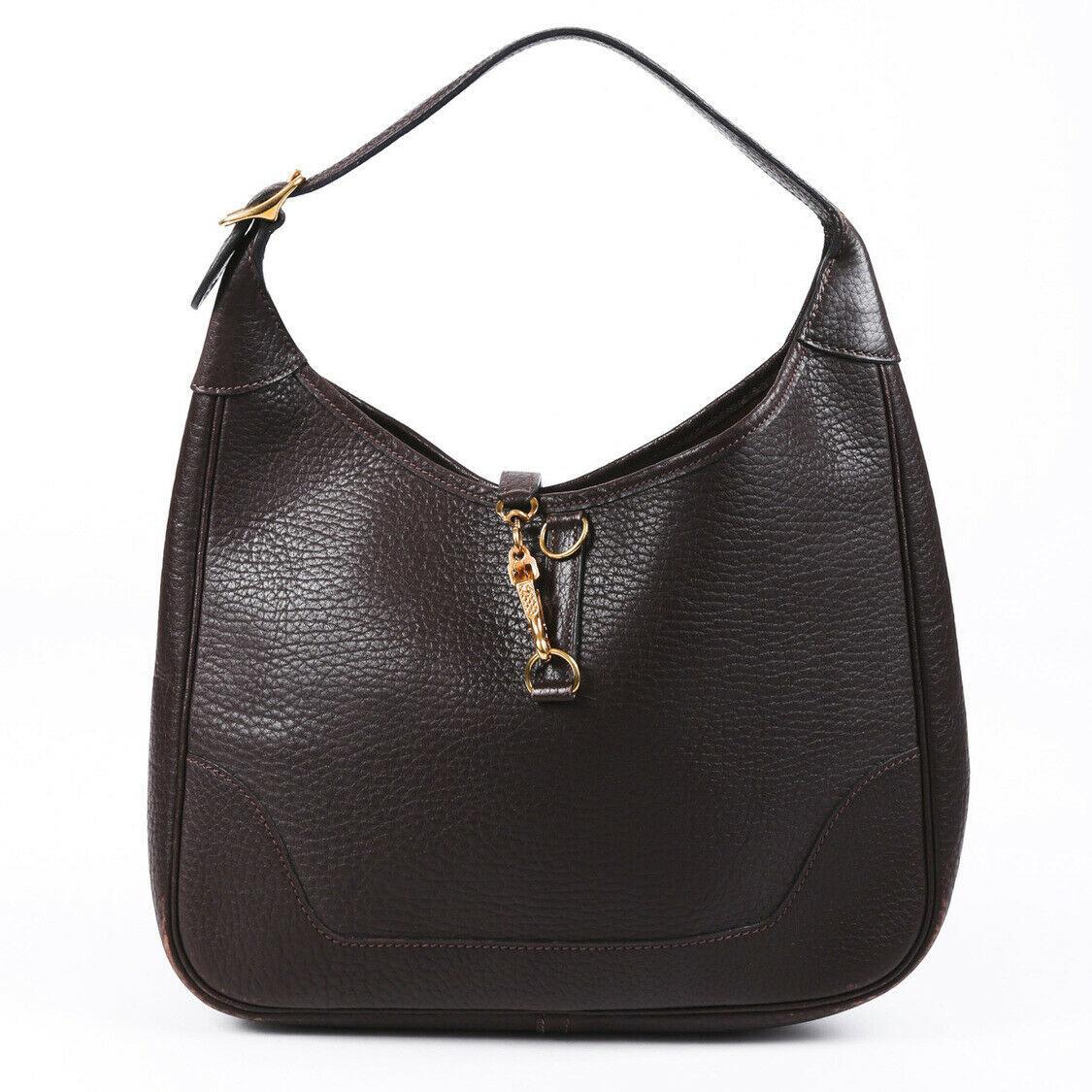 Vintage Hermes Trim 31 Buffalo Shoulder Bag
