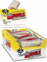 Muscle Sandwich Bar Vanilla 12 bars - $27.92