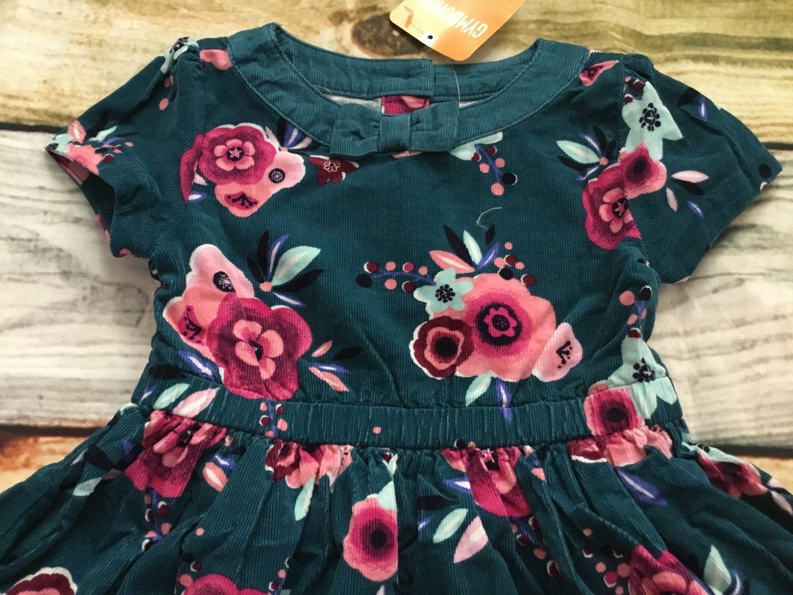 Gymboree Dress 2T Ready Jet Go Floral Corduroy Fall Dress NWT Outlet