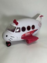 Sanrio 2012 Hello Kitty Toy White and Pink Lg Jumbo Jet Airplane Only - $14.71