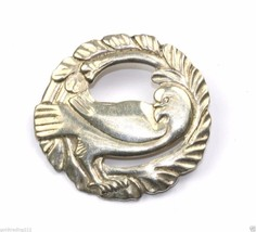 BRKS SIGNED DOVE IN WREATH BROOCH 925 STERLING BB 101 - $60.52