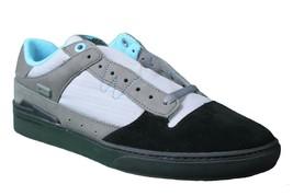 WeSC Mens Black Dark Shadow Gray Turquoise Emerson Stash Graffiti NY Shoes