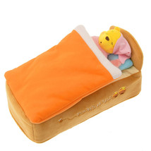 Disney store Japan tissue box cover case Pooh POOH'S HOUSE holder Houseware - $74.25