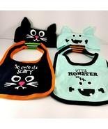 Halloween baby bib headband Set So cute it's scary Little Monster Lot Of... - $15.83